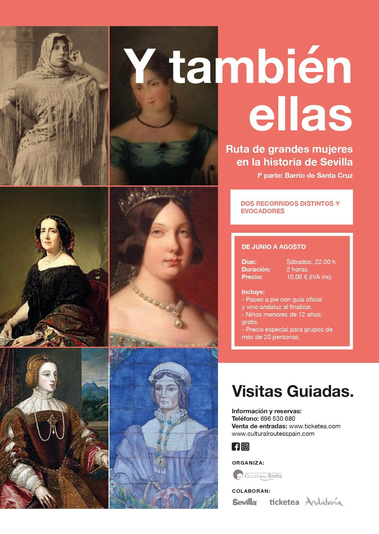 """Ruta """"Y también ellas: grandes mujeres en la historia de Sevilla"""" Iª parte"""
